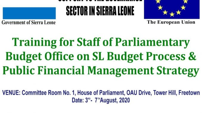 Parliament Budget Office Training Day 1